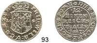 Deutsche Münzen und Medaillen,Brandenburg - Preußen Friedrich Wilhelm der Große Kurfürst 1640 - 1688 1/12 Taler 1687 L-CS, Berlin.  3,40 g.  v.S. 895.