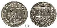 Deutsche Münzen und Medaillen,Brandenburg - Preußen Friedrich Wilhelm der Große Kurfürst 1640 - 1688 1/3 Taler 1673 G-F, Crossen.  9,22 g.  v.S. 623 var. (CR : et C.D.).