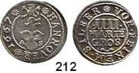 Deutsche Münzen und Medaillen,Hannover, Stadt Leopold I. 1657 - 1705 4 Mariengroschen 1667 A-S.  2,4 g.