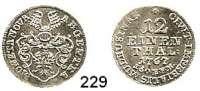 Deutsche Münzen und Medaillen,Mühlhausen in Thüringen, Stadt Josef II. 1765 - 1790 1/12 Taler 1767.  3,31 g.  Jg. 5.  Schön 18.
