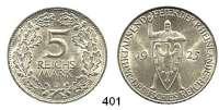 R E I C H S M Ü N Z E N,Weimarer Republik  5 Reichsmark 1925 D.  Rheinland.