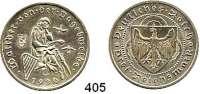 R E I C H S M Ü N Z E N,Weimarer Republik  3 Reichsmark 1930 A.  Vogelweide.