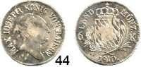 Deutsche Münzen und Medaillen,Bayern Maximilian I. Josef (1799) 1806 - 1825 6 Kreuzer 1810.  AKS 52.  Jg. 10.