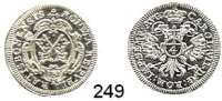 Deutsche Münzen und Medaillen,Regensburg, Stadt Karl VII. 1742 - 1745 4 Kreuzer o.J. (1742).  2,3 g.  Schön 40.