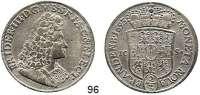 Deutsche Münzen und Medaillen,Brandenburg - Preußen Friedrich III. (I.) 1688 - 1701 (1713) 2/3 Taler (Gulden) 1693 IC-S, Magdeburg.  17,01 g.  v.S. 175.  Dav. 273.