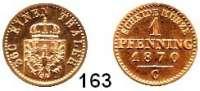 Deutsche Münzen und Medaillen,Preußen, Königreich Wilhelm I. 1861 - 1888 1 Pfennig 1870 C.  AKS 108.  Jg. 50.