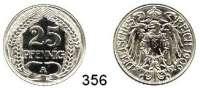 R E I C H S M Ü N Z E N,Kleinmünzen  25 Pfennig 1909 A.