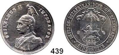 Besetzte Gebiete  -  Kolonien  -  Danzig,Deutsch - Ostafrika  1 Rupie 1891.