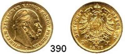 R E I C H S M Ü N Z E N,Preussen, Königreich Wilhelm I. 1861 - 1888 20 Mark 1872 C.