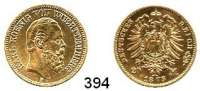 R E I C H S M Ü N Z E N,Württemberg, Königreich Karl 1864 - 1891 20 Mark 1873.