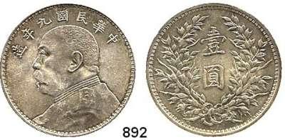 AUSLÄNDISCHE MÜNZEN,China Republik Dollar, Jahr 9 (1920).  Schön 33.  Y. 329.6.