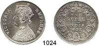 AUSLÄNDISCHE MÜNZEN,Indien Britisch Indien 1 Rupie 1892.  Kahnt/Schön 40.  KM 492.