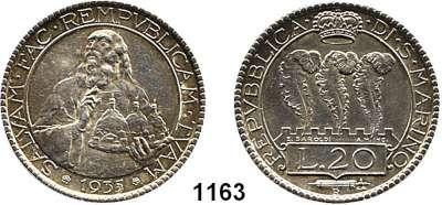 AUSLÄNDISCHE MÜNZEN,San Marino  20 Lire 1935.  Schön 11.  KM 11.