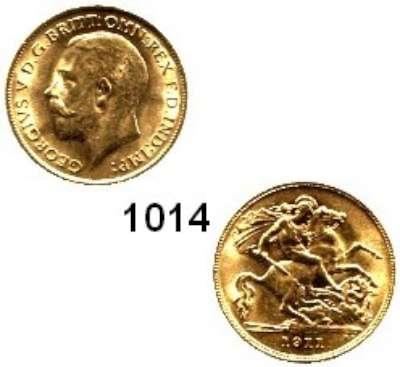 AUSLÄNDISCHE MÜNZEN,Großbritannien Georg V. 1910 - 1936 Half Sovereign 1911.  (3,66g fein).  Spink 4006.  Schön 308.  KM 819.  Fb. 405.  GOLD