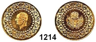 AUSLÄNDISCHE MÜNZEN,Türkei Republik seit 1923 50 Piaster 1966  (3,22g FEIN).  Schön 385.  KM 871.  Fb. 97.  GOLD.