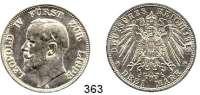 R E I C H S M Ü N Z E N,Lippe (-Detmold) Leopold IV. 1904 - 1918 3 Mark 1913