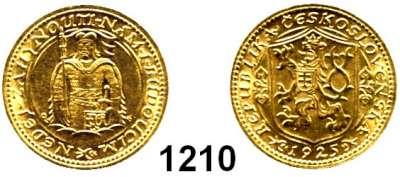 AUSLÄNDISCHE MÜNZEN,Tschechoslowakei Republik, 1918 - 1939 Dukat 1925, Kremnitz  (3,44g fein).  Schön 12.  KM 8.  Fb. 2.  GOLD.