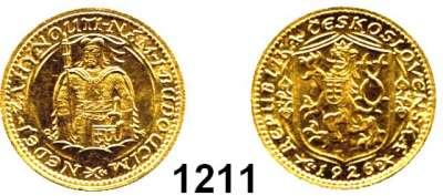 AUSLÄNDISCHE MÜNZEN,Tschechoslowakei Republik, 1918 - 1939 Dukat 1926, Kremnitz  (3,44g fein).  Schön 12.  KM 8.  Fb. 2.  GOLD.