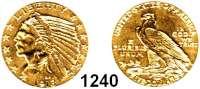AUSLÄNDISCHE MÜNZEN,U S A  5 Dollars 1913.  (7,52g fein).  Schön 139.1  KM 129.  Fb. 148,  GOLD