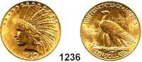 AUSLÄNDISCHE MÜNZEN,U S A  10 Dollars 1910.  (15,04g fein).  Schön 141.  KM 130.  Fb. 166,  GOLD