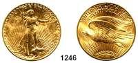 AUSLÄNDISCHE MÜNZEN,U S A  20 Dollars 1925.  (30,1g fein).  Schön 143.4.  KM 131.  Fb. 185,  GOLD