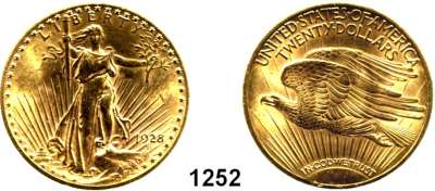 AUSLÄNDISCHE MÜNZEN,U S A  20 Dollars 1928.  (30,1g fein).  Schön 143.4.  KM 131.  Fb. 185,  GOLD