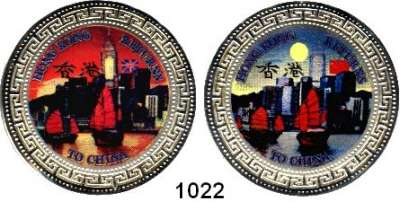 AUSLÄNDISCHE MÜNZEN,Hongkong  Etui mit zwei Silbermedaillen 1997 (925/1000).