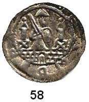 Deutsche Münzen und Medaillen,Brandenburg - Preußen Albrecht der Bär 1134 - 1170 Brakteat.  0,93 g.  Hüftbild des Fürsten mit Schwert und Schild von vorn zwischen zwei Türmen.  Bahrf. 14 c.  Slg. Bonhoff 787 var..