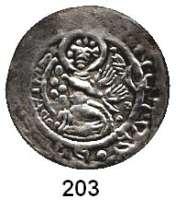 Deutsche Münzen und Medaillen,Halberstadt, Bistum Ulrich I. von Reinstein 1. Regierung 1149 - 1160 Brakteat.  0,97 g.  St. Stephan kniet rechts, hinter ihm 5 Steine.  Slg. Bonhoff 455.