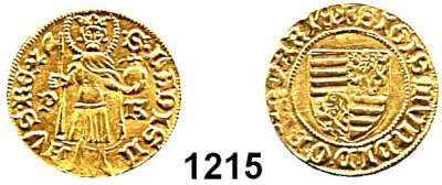 AUSLÄNDISCHE MÜNZEN,Ungarn Sigismund 1387 - 1437 Goldgulden o.J. P-K.  3,56 g.  Fb. 10.  GOLD