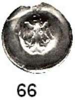 Deutsche Münzen und Medaillen,Brandenburg - Preußen Friedrich II. 1440 - 1470 Adlerhohlpfennig mit kl. Zollernschild.  0,22 g.  Bahrfeldt 6.