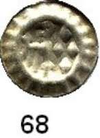 Deutsche Münzen und Medaillen,Brandenburg - Preußen Friedrich II. 1440 - 1470 Hohlpfennig, Stendal.  0,40 g.  Bahrfeldt 19.