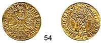 Deutsche Münzen und Medaillen,Brandenburg in Franken Albrecht Achilles 1464 - 1486 Goldgulden o.J.  3,20 g.  Fb. 304.  GOLD