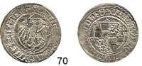 Deutsche Münzen und Medaillen,Brandenburg - Preußen Friedrich II. 1440 - 1470 Groschen o.J., Brandenburg.  2,34 g.  Bahrfeldt 33.