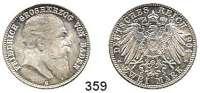 R E I C H S M Ü N Z E N,Baden, Großherzogtum Friedrich I. 1856 - 1907 2 Mark 1904.