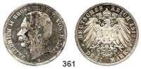 R E I C H S M Ü N Z E N,Baden, Großherzogtum Friedrich II. 1907 - 1918 3 Mark 1912.