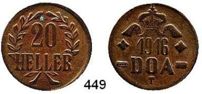 Besetzte Gebiete  -  Kolonien  -  Danzig,Tabora  20 Heller 1916 T (Kupfer)