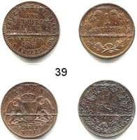 Deutsche Münzen und Medaillen,Baden - Durlach LOTS       LOTS       LOTS 1 Kreuzer 1852, 1870, 1871 und Gedenkkreuzer 1868