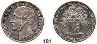 Deutsche Münzen und Medaillen,Braunschweig - Calenberg (Hannover) Georg V. 1851 - 1866 Taler 1865 B.  Zur Erinnerung an die Feier des 15 Dec. 1865 (Upstalsboom). Kahnt 242.  Thun 178.  AKS 162.  Jg. 100.  Dav. 686.