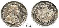 Deutsche Münzen und Medaillen,Eichstätt, Bistum Joseph Graf von Stubenberg 1790 - 1802 1/2 Konventionstaler 1796 CD, München.  13,99 g.  Cahn 150.  Schön 28.