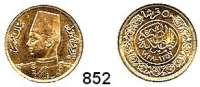 AUSLÄNDISCHE MÜNZEN,Ägypten Faruk 1936 - 1952 50 Piaster 1357 (1938).  (3,71g fein).  Schön 75.  KM 371.  Fb. 37.  GOLD