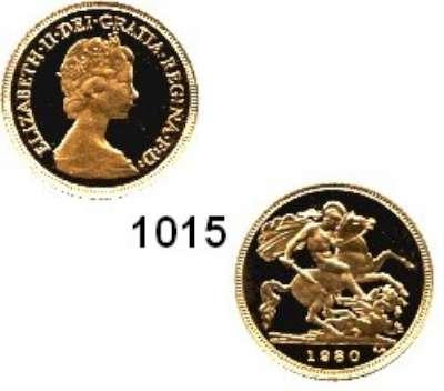 AUSLÄNDISCHE MÜNZEN,Großbritannien Elisabeth II. 1952 - Half Sovereign 1980.  (3,66g fein).  Schön 407.  KM 922.  Fb. 421.  GOLD
