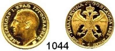 AUSLÄNDISCHE MÜNZEN,Jugoslawien Alexander I. 1921 - 1934 Dukat 1932.  (3,44g fein).  Schön 11.  KM 12.  Fb. 5.  GOLD