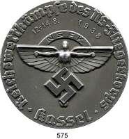 Orden, Ehrenzeichen, Militaria, Zeitgeschichte,Deutschland Drittes Reich Einseitige Leichtmetallmedaille 1938.  NSFK Reichswettkämpfe des NS-Fliegerkorps Kassel 12.-14.8.1938.  Kaiser 1239.  81,5 mm.  62,45 g
