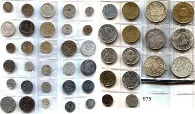 AUSLÄNDISCHE MÜNZEN,Dänemark L O T S      L O T S      L O T S LOT von 46 Münzen.  1 Öre bis 2 Kronen.  Darunter 2 Kronen 1876, 1916, 1923, 1930.