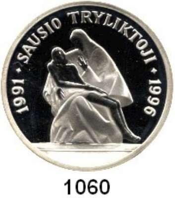 AUSLÄNDISCHE MÜNZEN,Litauen  50 Litu 1996.  5. Jahrestag der sowjetischen Militäraktion (Blutsonntag von Vilnius).  Schön 31.  KM 100.