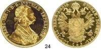 Österreich - Ungarn,Habsburg - Lothringen Franz Josef I. 1848 - 1916 4 Dukaten 1915 (off. Neuprägung).  (13,86g fein).  Frühwald 1164.  Herinek 70.  KM 2276.  Fb. 488.  GOLD