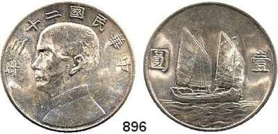 AUSLÄNDISCHE MÜNZEN,China Republik Dollar, Jahr 23 (1934).  Schön 96.  Y. 345.
