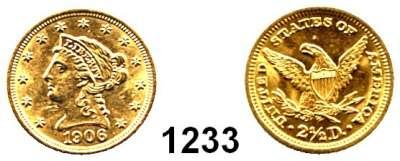 AUSLÄNDISCHE MÜNZEN,U S A  2 1/2 Dollars 1906.  (3.77g fein).  Schön 110.  KM 72.  Fb. 114.  GOLD