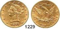 AUSLÄNDISCHE MÜNZEN,U S A  10 Dollars 1897  (15,04g fein).  Kahnt/Schön 49.  KM 102.  Fb. 158.  GOLD